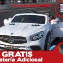 Mercedes SL65 12V 2.4G MP4 Blanco + Batería extra