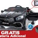 MERCEDES SL65 PANTALLA MP4 NEGRO 12V 2.4G + BATERIA EXTRA