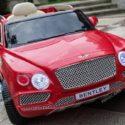 Coche Eléctrico infantil Bentley Bentayga 12V 2.4G Rojo, con ruedas de foam y Asiento acolchado.