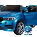 BMW X6 2 PLAZAS 12V 2.4G AZUL METALIZADO