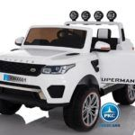 Jeep 12V 4X4 MP4 2.4G Blanco