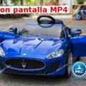 Maserati Alfieri con MP4 para niños 12V 2.4G Azul