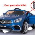 MERCEDES SL65 PANTALLA MP4 AZUL METALIZADO 12V 2.4G