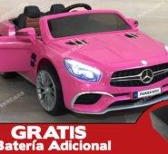 Mercedes SL65 12V 2.4G MP4 Rosa