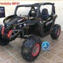 Buggy UTV Todoterreno 12V MP4 Negro