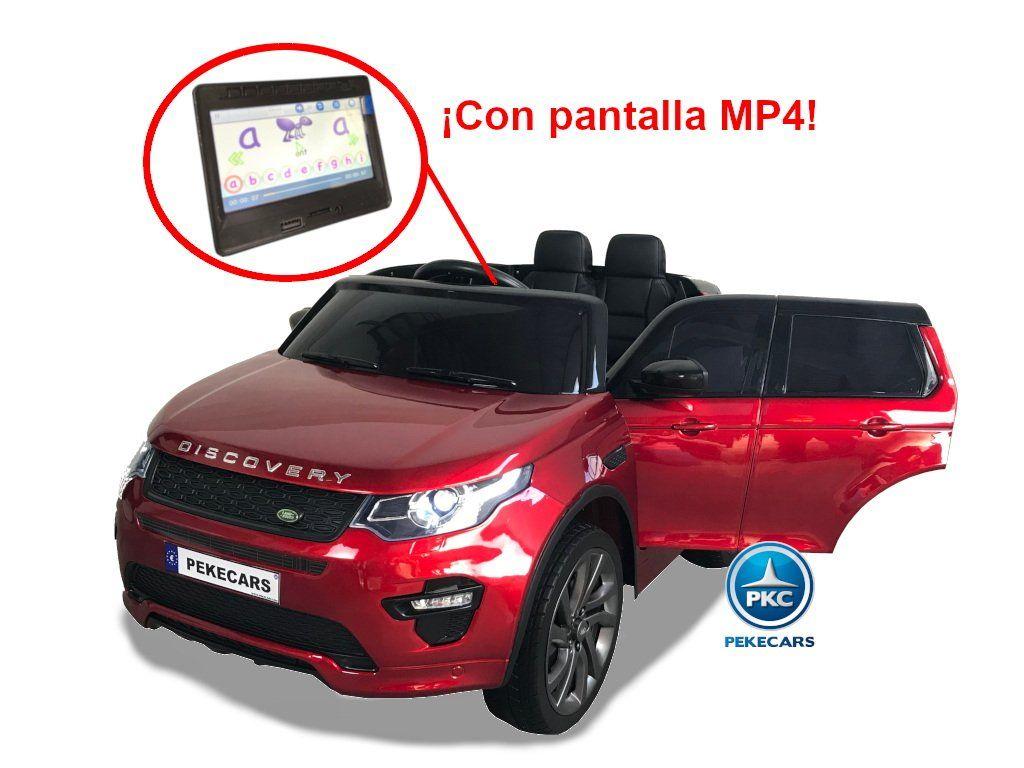 Land Rover Discovery 12V 2.4G MP4 Rojo Metalizado